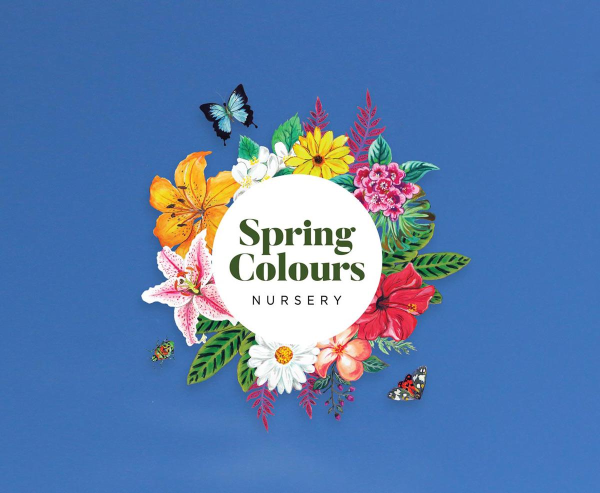 Spring Colours Nursery Logo